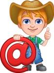 Little Farm Kid Cartoon Vector Character AKA Curtis the Farm's Menace - E-mail