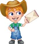 Little Farm Kid Cartoon Vector Character AKA Curtis the Farm's Menace - Letter