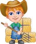 Little Farm Kid Cartoon Vector Character AKA Curtis the Farm's Menace - Pitchfork 2