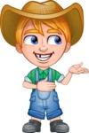Little Farm Kid Cartoon Vector Character AKA Curtis the Farm's Menace - Showcase 2