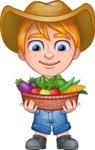 Little Farm Kid Cartoon Vector Character AKA Curtis the Farm's Menace - Basket 1