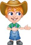 Little Farm Kid Cartoon Vector Character AKA Curtis the Farm's Menace - Show