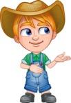 Little Farm Kid Cartoon Vector Character AKA Curtis the Farm's Menace - Show 2