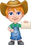 Little Farm Kid Cartoon Vector Character AKA Curtis the Farm's Menace - Sign 1