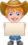 Little Farm Kid Cartoon Vector Character AKA Curtis the Farm's Menace - Sign 2