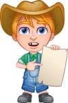 Little Farm Kid Cartoon Vector Character AKA Curtis the Farm's Menace - Sign 4