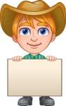 Little Farm Kid Cartoon Vector Character AKA Curtis the Farm's Menace - Sign 5
