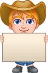 Little Farm Kid Cartoon Vector Character AKA Curtis the Farm's Menace - Sign 6