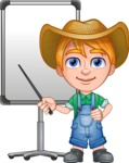 Little Farm Kid Cartoon Vector Character AKA Curtis the Farm's Menace - Presentation 2