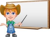 Little Farm Kid Cartoon Vector Character AKA Curtis the Farm's Menace - Presentation 3