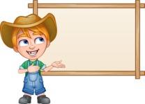 Little Farm Kid Cartoon Vector Character AKA Curtis the Farm's Menace - Presentation 4