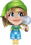 Little Farm Girl Cartoon Vector Character AKA Harper the Farm Helper - Searching