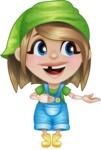 Little Farm Girl Cartoon Vector Character AKA Harper the Farm Helper - Presenting