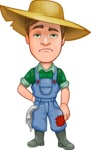 Funny Farm Man Vector Cartoon Character AKA Connor as Mr. Handsome - Being Tired