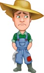 Funny Farm Man Vector Cartoon Character AKA Connor as Mr. Handsome - Feeling Sad