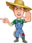 Funny Farm Man Vector Cartoon Character AKA Connor as Mr. Handsome - Finger pointing with angry face