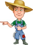 Funny Farm Man Vector Cartoon Character AKA Connor as Mr. Handsome - Pointing and Smiling
