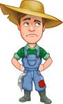 Funny Farm Man Vector Cartoon Character AKA Connor as Mr. Handsome - Rolling Eyes