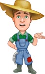 Funny Farm Man Vector Cartoon Character AKA Connor as Mr. Handsome - With Confused Face