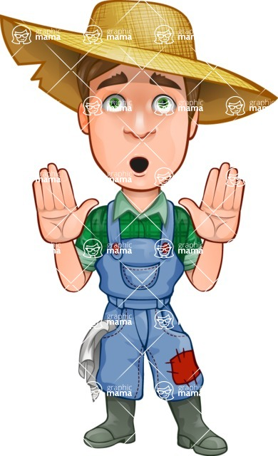 Cartoon Characters Personalities : Connor as mr handsome farmer vector cartoon character