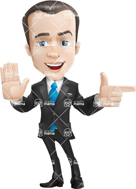 businessman vector cartoon character design modern look  - Direct Attention
