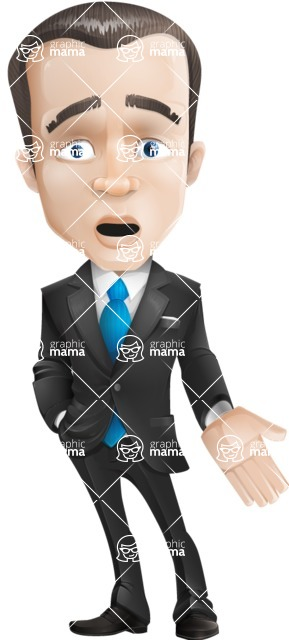 businessman vector cartoon character design modern look  - Stunned