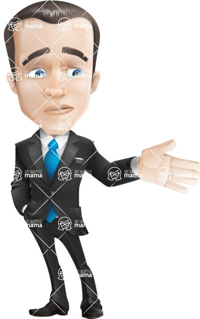 businessman vector cartoon character design modern look  - Sad2