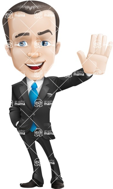businessman vector cartoon character design modern look  - Hello