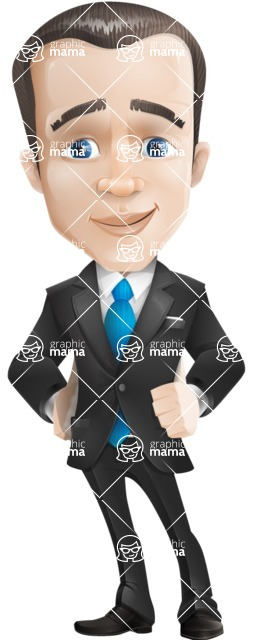 Vector Male Business Cartoon Character - Patient