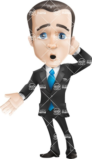 businessman vector cartoon character design modern look  - Blank
