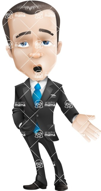 businessman vector cartoon character design modern look  - Bored2