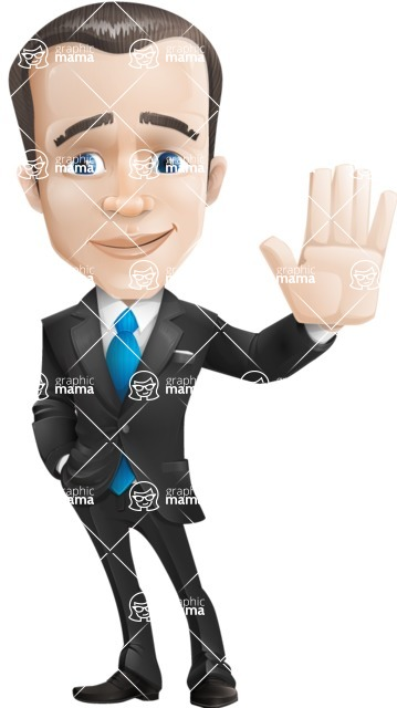 businessman vector cartoon character design modern look  - Wave