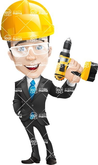businessman vector cartoon character design modern look  - Construction