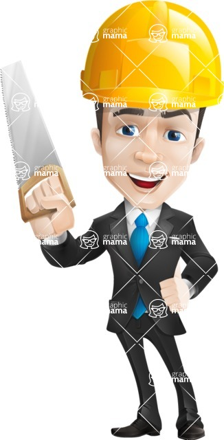 businessman vector cartoon character design modern look  - Construction2