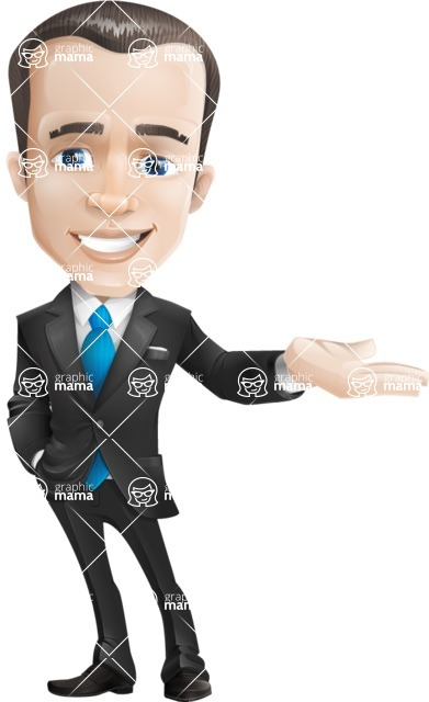 Vector Male Business Cartoon Character - Showcase