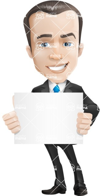 businessman vector cartoon character design modern look  - Sign5