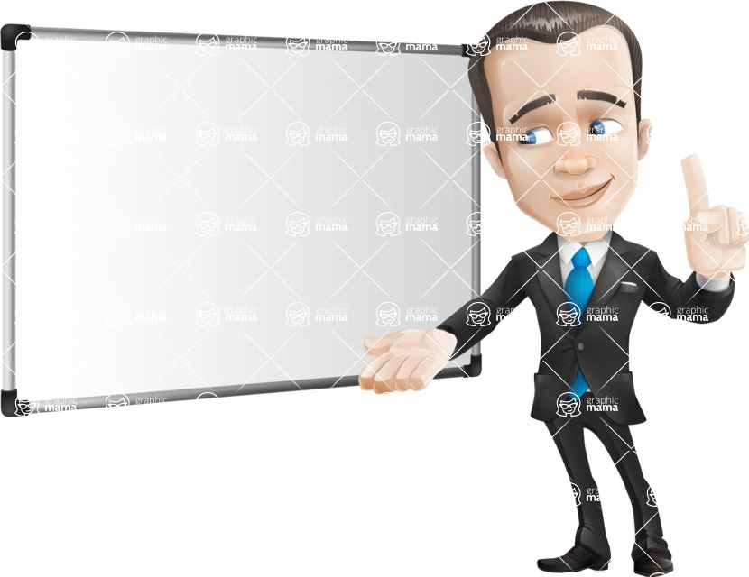 Vector Male Business Cartoon Character - Presentation5