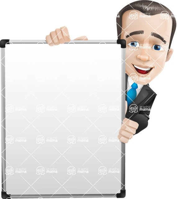 businessman vector cartoon character design modern look  - Presentation6