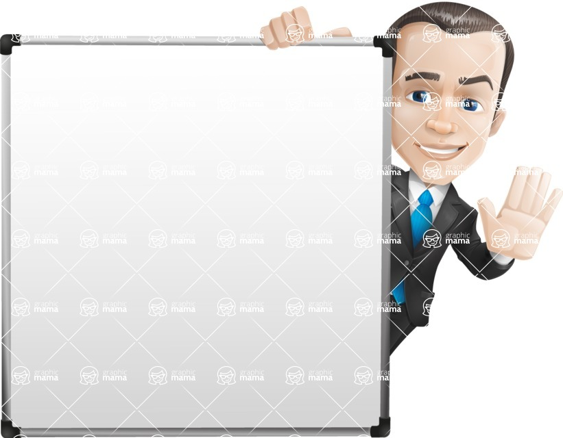 businessman vector cartoon character design modern look  - Presentation7