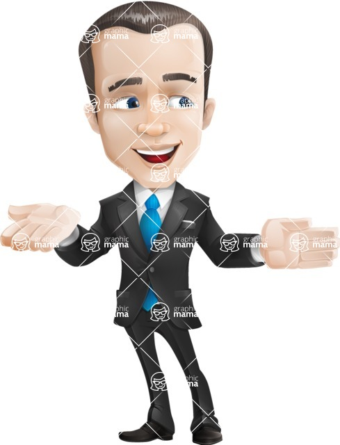 businessman vector cartoon character design modern look  - Show2