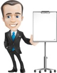 Vector Male Business Cartoon Character - Presentation3