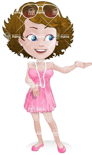 Woman in Summer Dress Cartoon Vector Character AKA Hannah - Showcase2