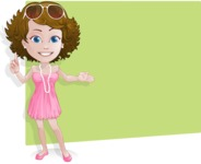 Woman in Summer Dress Cartoon Vector Character AKA Hannah - Shape2