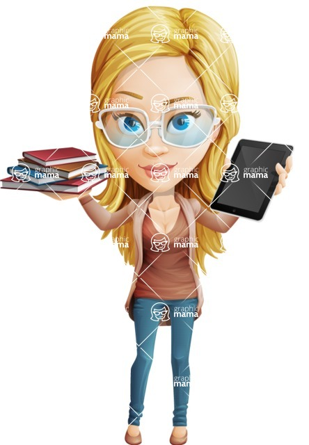 Alice Skinny Jeans - Book and iPad