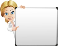 Blonde Female Doctor Cartoon Vector Character AKA Dana Physic-Care - Presentation 5