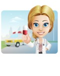 Blonde Female Doctor Cartoon Vector Character AKA Dana Physic-Care - Shape1