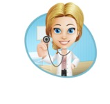 Blonde Female Doctor Cartoon Vector Character AKA Dana Physic-Care - Shape4