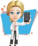 Blonde Female Doctor Cartoon Vector Character AKA Dana Physic-Care - Shape5