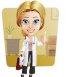 Blonde Female Doctor Cartoon Vector Character AKA Dana Physic-Care - Shape6