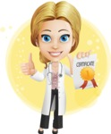 Blonde Female Doctor Cartoon Vector Character AKA Dana Physic-Care - Shape7